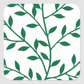 Green leaves green olive branch leaf decor stickers