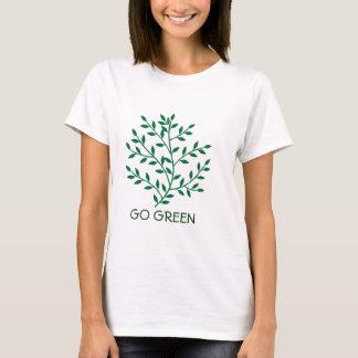 Green leaves green olive branch leaf Go Green T-Shirt