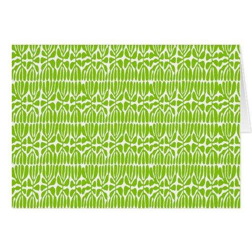 Green Leaves, Homage Matisse Greeting Card