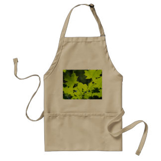 Green leaves in the woods adult apron