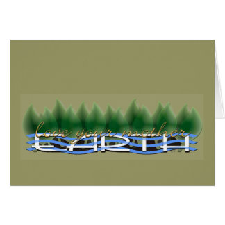 Green Leaves Love Your Mother Earth Greeting Cards