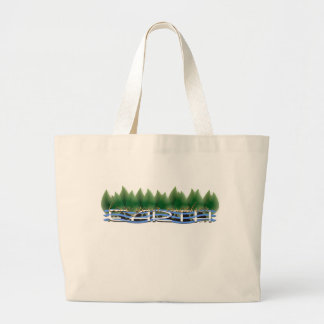 Green Leaves Love Your Mother Earth Large Tote Bag