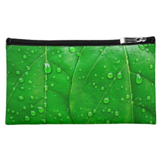 Green Leaves Makeup Bag
