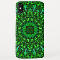 Green Leaves Mandala iPhone XS Max Case