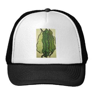 green leaves mesh hat