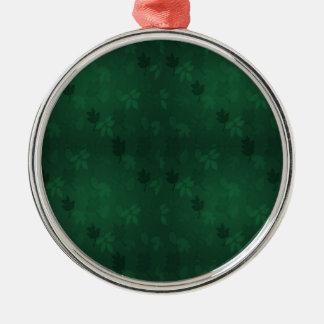 Green Leaves Metal Ornament