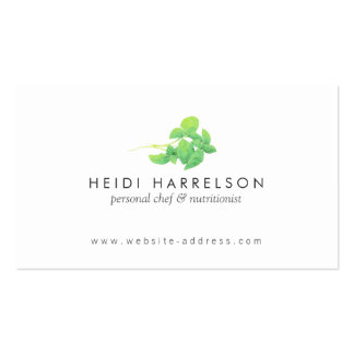 Green Leaves Nutritionist, Holistic, Naturopath Business Card Templates