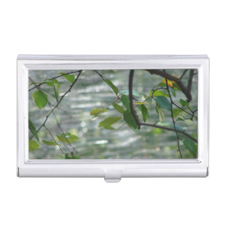 Green Leaves Of Hope Business Card Holders