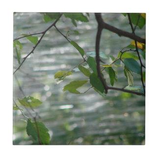Green Leaves of Hope Ceramic Tile