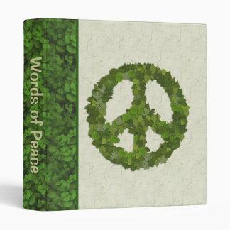 Green Leaves Of Peace Binder
