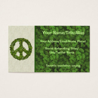 Green Leaves Of Peace Business Card