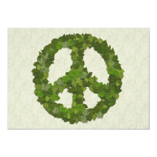 Green Leaves Of Peace Card
