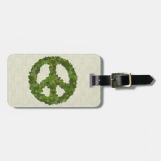 Green Leaves Of Peace Tag For Luggage