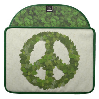Green Leaves Of Peace Sleeve For MacBooks