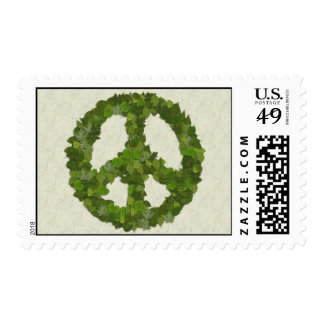 Green Leaves Of Peace Postage