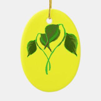 Green leaves Ornament