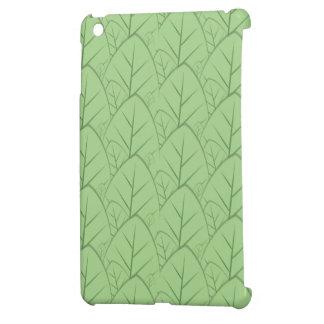 green leaves pattern ipad mini case