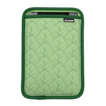 green leaves pattern ipad mini sleeve