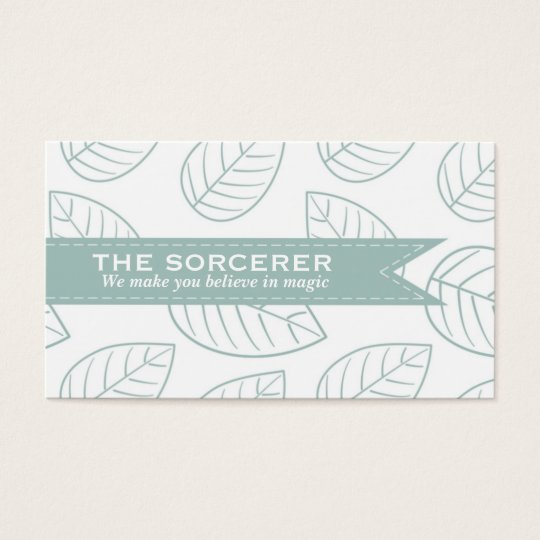 Green Leaves Pattern Professional Business Card