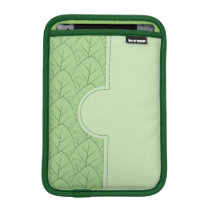 green leaves pattern sleeve for iPad mini