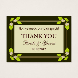 Green Leaves Personalized Wedding Favor Gift Tags