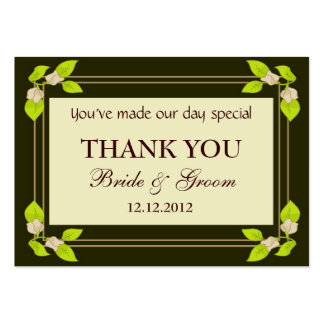 Green Leaves Personalized Wedding Favor Gift Tags Business Card Template