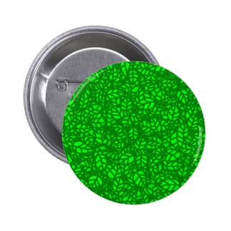 green leaves pinback button