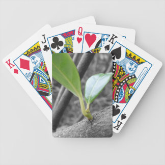 Green Leaves Playing Cards
