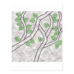 green leaves postcards