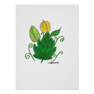 Green Leaves Posters