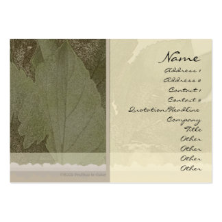 Green Leaves Profile Card Large Business Card