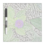 green leaves purple flower sketch dry erase whiteboards