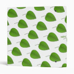 Green Leaves Simple Nature Pattern Option Initials Binder
