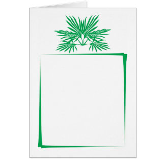 Green leaves simplistic modern border any ocassion card