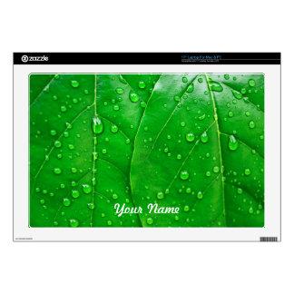 Green Leaves Skin For Laptop