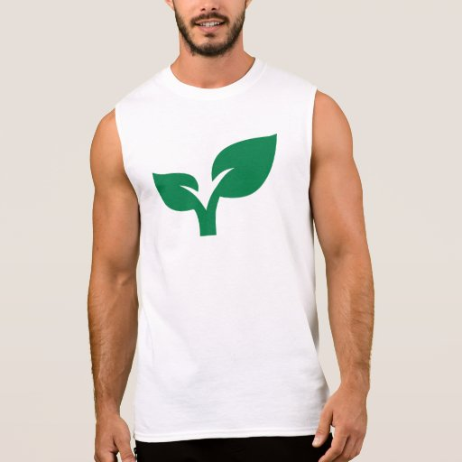 Green leaves sleeveless t-shirts Tank Tops, Tanktops Shirts