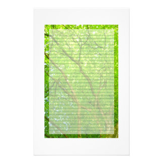 Green leaves stationary personalized stationery