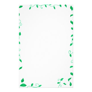 Green leaves Stationary Stationery