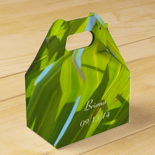 Blue Lightning Favor Boxes : Green leaves sunlight and blue sky favor box zazzle