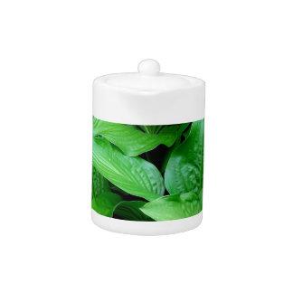 Green Leaves. Teapot