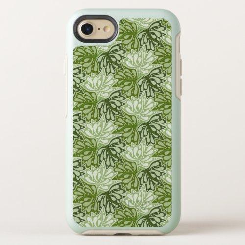 Green Leaves tessellation pattern OtterBox Symmetry iPhone SE/8/7 Case