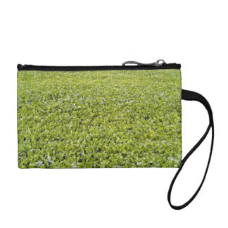 Green Leaves Texture Coin Purse