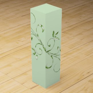 Green Leaves Wine Gift Box