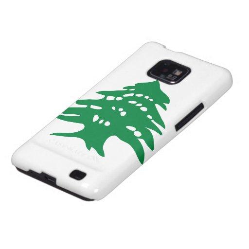 Green Lebanon Cedar Tree Galaxy SII Cover