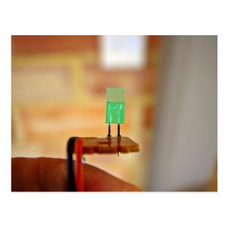 Green LED Postcard