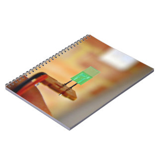 Green LED Spiral Notebook