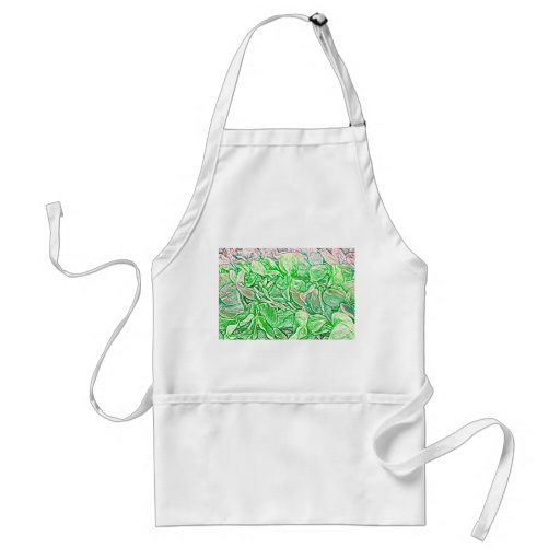 green lei sketch flowers neat abstract background apron