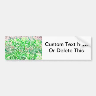 green lei sketch flowers neat abstract background bumper sticker