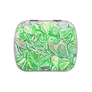 green lei sketch flowers neat abstract background candy tins