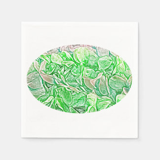 green lei sketch flowers neat abstract background paper napkins